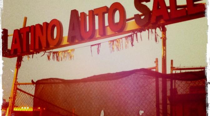 Latino Auto Sales sign