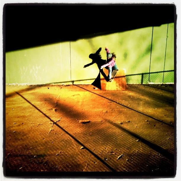 Skateboarder at Bridgespot Skatepark